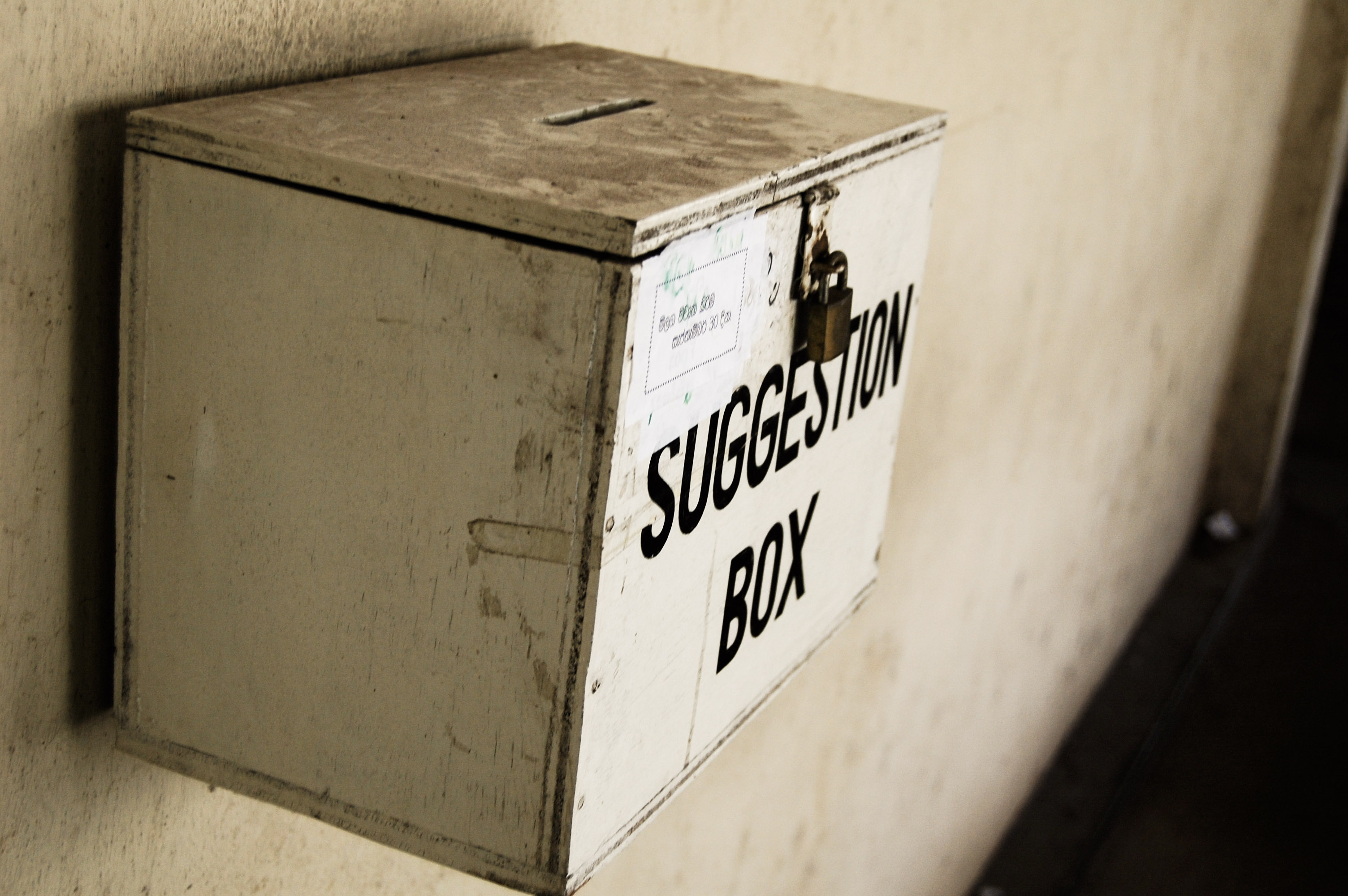 Speed dating suggestion box